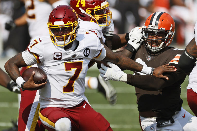 Mistakes costly for QB Haskins in team's 2nd loss in a row