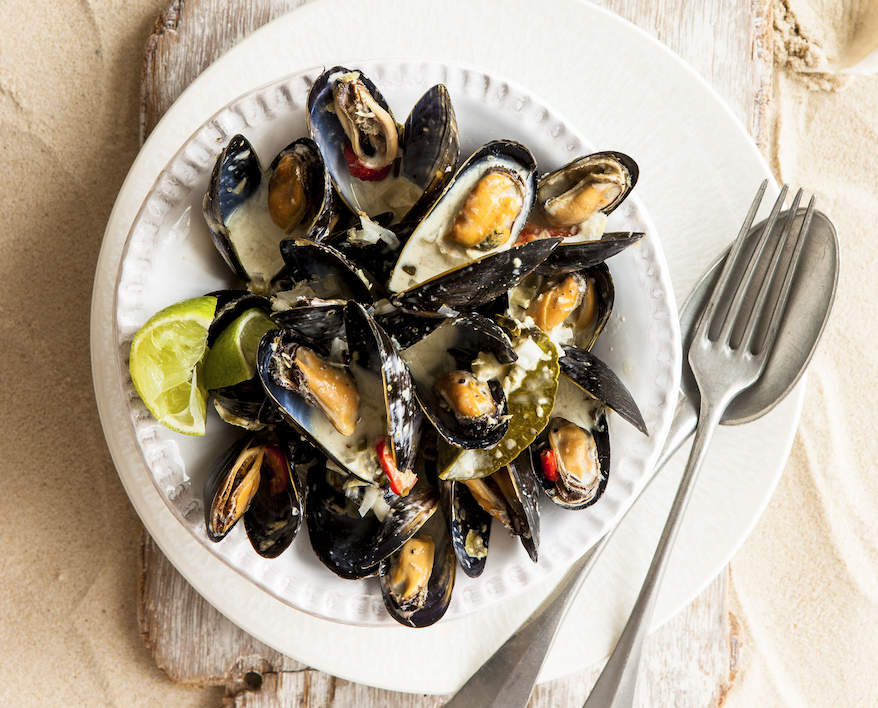 "<p>Sticking in the world of shellfish, how about mussels. Go all aromatic and spice it up with this <a rel=""nofollow"" href=""http://www.jamieoliver.com/recipes/seafood-recipes/thai-style-mussels/"">easy Thai-style recipe from Jamie Oliver</a>. [Photo: Rex] </p>"