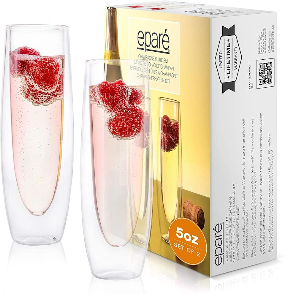 <p><span>Glass Champagne Flutes</span> ($18, originally $20)</p>