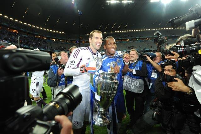 Petr Cech, left, and Didier Drogba were Chelsea's heroes in Munich