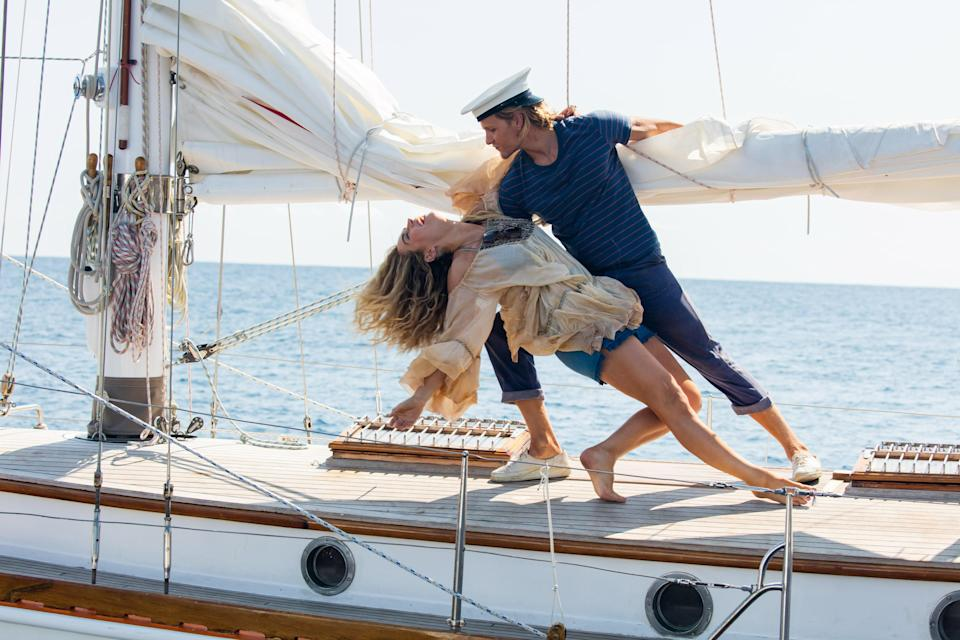 """<p>You don't have to leave Greece once you finish <em>Mamma Mia</em>. Just ease right into the sequel/prequel, which features somehow even grander oceanside scenes, and drool over the truly stunning hotel that Sophie (Amanda Seyfried) has in the 10 years since the events of the first movie.</p> <p><em>Available to rent on</em> <a href=""""https://www.amazon.com/Mamma-Mia-Movie-Meryl-Streep/dp/B009CGGCSC/ref=sr_1_2?crid=7B1GL4DW913C&dchild=1&keywords=mamma+mia+here+we+go+again+movie&qid=1593113997&s=instant-video&sprefix=mamma+mi%2Cinstant-video%2C158&sr=1-2"""" rel=""""nofollow noopener"""" target=""""_blank"""" data-ylk=""""slk:Amazon Prime Video"""" class=""""link rapid-noclick-resp""""><em>Amazon Prime Video</em></a><em>.</em></p>"""