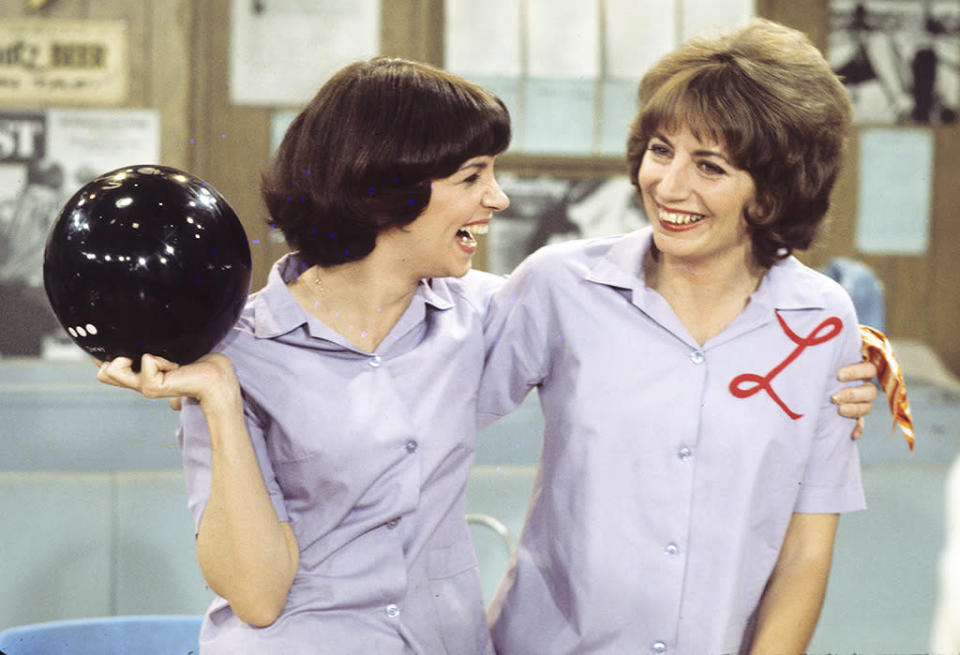 <p>I first fell for these roommates when I saw them as the loudmouthed sidekicks on <em>Happy Days</em>, but I soon became obsessed with reruns of their spinoff sitcom. The show was a touching, uproarious look at the life and best-friendship of two brewery workers in the late '50s, trying to make their way in the big city of … Milwaukee. (I don't count the later Burbank-set years.) Laverne (Penny Marshall) was the tough, outgoing extrovert, while Shirley (Cindy Williams) was the naive wallflower. Together, they became my all-time favorite odd couple. –Kerrie Mitchell <br>(Credit: ABC/Getty Images)</p>