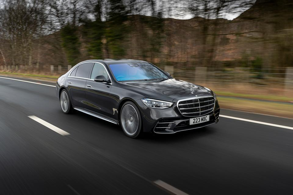 The S-Class saloon: still sombre and serious, but with a side-order of fun (Justin Leighton)