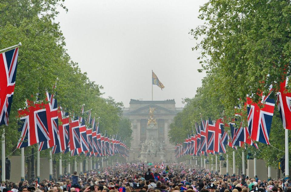 """<p>Plus <a href=""""https://www.townandcountrymag.com/society/tradition/a20777122/meghan-markle-prince-harry-royal-wedding-ratings-compared-to-prince-william-kate-middleton/"""" rel=""""nofollow noopener"""" target=""""_blank"""" data-ylk=""""slk:24 million Brits"""" class=""""link rapid-noclick-resp"""">24 million Brits</a>, which is about six million more U.K. viewers than Meghan and Harry's. </p>"""