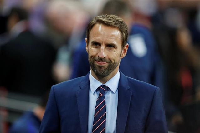 <p>Soccer Football – 2018 World Cup Qualifications – Europe – England vs Slovakia – London, Britain – September 4, 2017 England manager Gareth Southgate before the match Action Images via Reuters/Carl Recine </p>