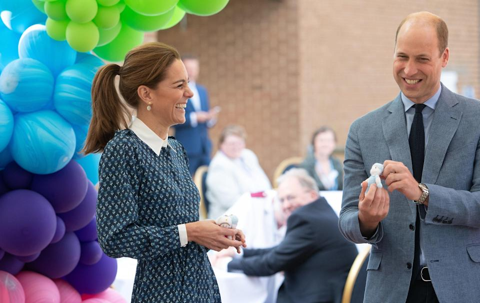 The couple attends an NHS birthday celebration on 5 July 2020Getty Images
