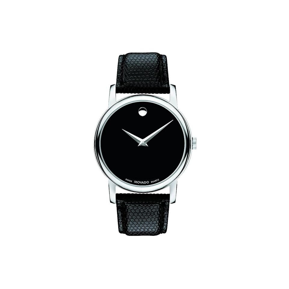 "Now more than ever, time is a construct, but a quality watch never goes out of style—and the best boyfriend deserves a chic watch. $239, Amazon. <a href=""https://www.amazon.com/Movado-2100002-Museum-Black-Stainless/dp/B008FS8I58"" rel=""nofollow noopener"" target=""_blank"" data-ylk=""slk:Get it now!"" class=""link rapid-noclick-resp"">Get it now!</a>"