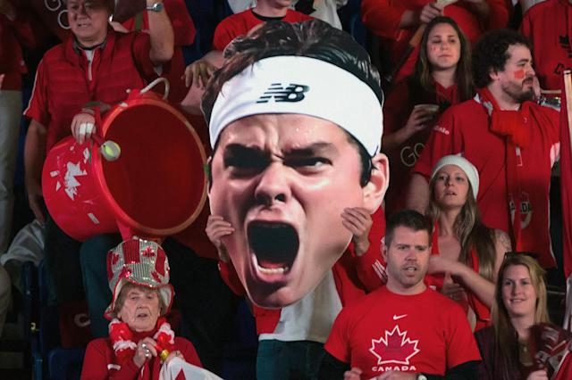 The big Milos heads are in no danger of being redundant in Davis Cup, as long as Raonic is healthy. (AP Photo/The Canadian Press, Darryl Dyck)