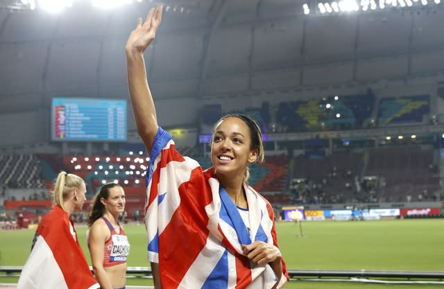 Johnson-Thompson was crowned world champion in Doha in October (Martin Rickett/PA)