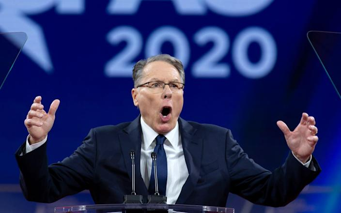 National Rifle Association Executive Vice President and CEO Wayne LaPierre speaks at Conservative Political Action Conference, CPAC 2020 - AP