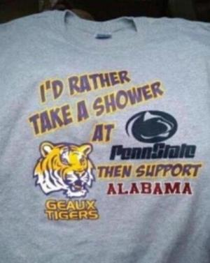 Whichever Lsu Fans Created This Anti Alabama T Shirt Succeeded In Making It Funny On Multiple Levels