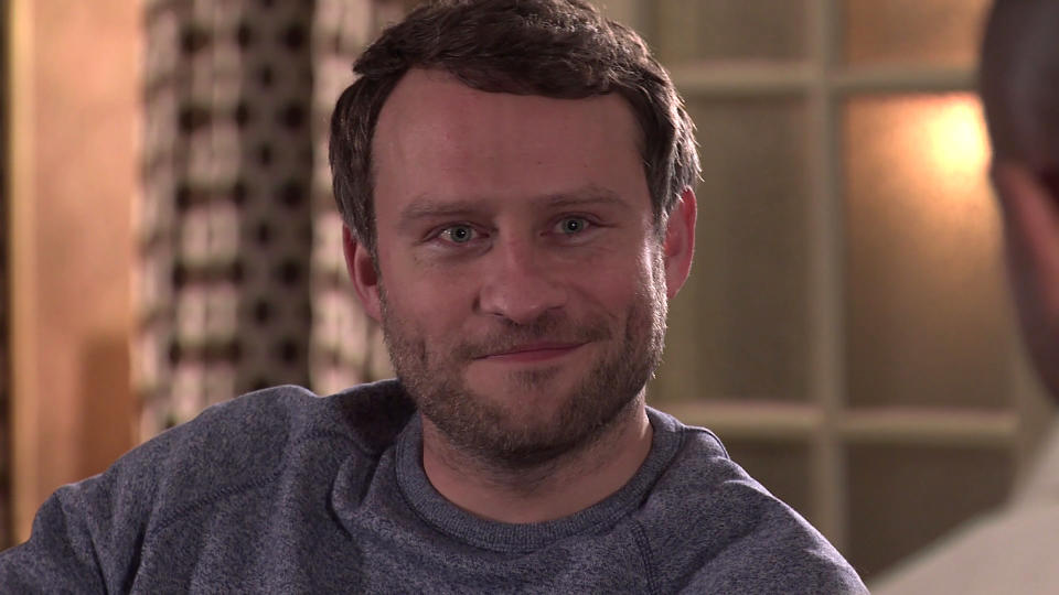 FROM ITV  STRICT EMBARGO - No Use Before Tuesday 16th March 2021  Coronation Street - Ep 10284  Friday 26th March 2021 - 2nd Ep  As Jimmi [JONATHON OJINNAKA] flirts with Paul [Foreman [PETER ASH], Todd GrimshawÕs [GARETH PIERCE] pleased to see his plan coming together. Making out thereÕs a crisis at home, Todd leaves them to it.   Picture contact David.crook@itv.com   This photograph is (C) ITV Plc and can only be reproduced for editorial purposes directly in connection with the programme or event mentioned above, or ITV plc. Once made available by ITV plc Picture Desk, this photograph can be reproduced once only up until the transmission [TX] date and no reproduction fee will be charged. Any subsequent usage may incur a fee. This photograph must not be manipulated [excluding basic cropping] in a manner which alters the visual appearance of the person photographed deemed detrimental or inappropriate by ITV plc Picture Desk. This photograph must not be syndicated to any other company, publication or website, or permanently archived, without the express written permission of ITV Picture Desk. Full Terms and conditions are available on  www.itv.com/presscentre/itvpictures/terms