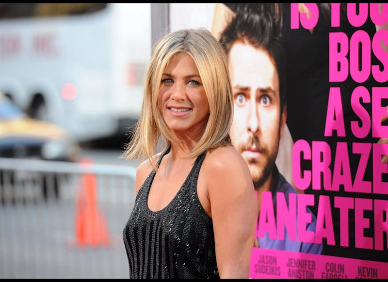 HOLLYWOOD, CA - JUNE 30: Actress Jennifer Aniston arrives at the premiere of Warner Bros. Pictures' 'Horrible Bosses' at Grauman's Chinese Theatre on June 30, 2011 in Hollywood, California. (Photo by Jason Merritt/Getty Images)