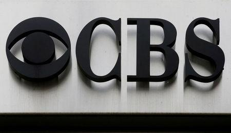 "FILE PHOTO: The CBS ""eye"" and logo are seen outside the CBS Broadcast Center on West 57th St. in Manhattan, New York"