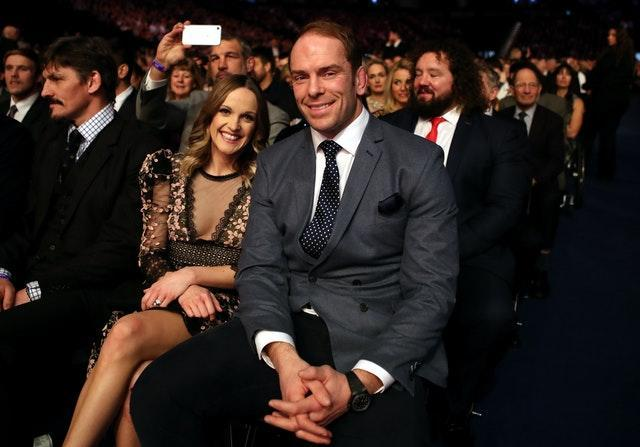Alun Wyn Jones and his wife Dr Anwen Jones at the 2019 BBC Sports Personality of the Year awards