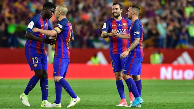 <p>At Lyon and Barca, Umtiti has won both the Coupe de France and Copa del Rey in Ligue 1 and La Liga respectively. The Frenchman knows what it takes to win trophies, and he'll be hoping to claim his first league title this season, with Barca looking likely to break away from their title rivals. </p> <br><p>United are without a league title for four years, with the departure of Sir Alex Ferguson affecting the club more than the Old Trafford hierarchy would've hoped. Umtiti would be seen as a signing for both the present and the future, and he would be hungry for titles in the Prem. </p>