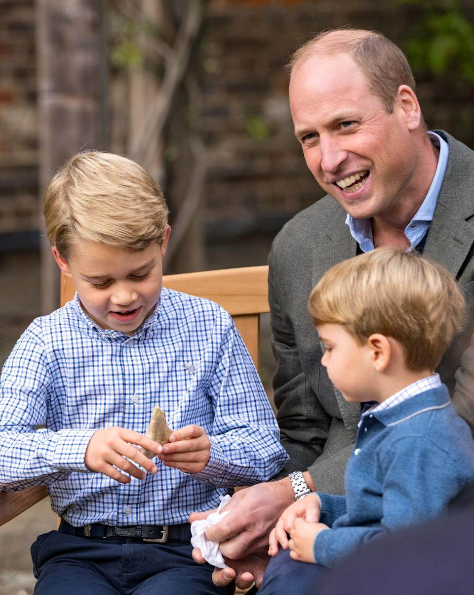 Attenborough gave Prince George a shark tooth as a gift.