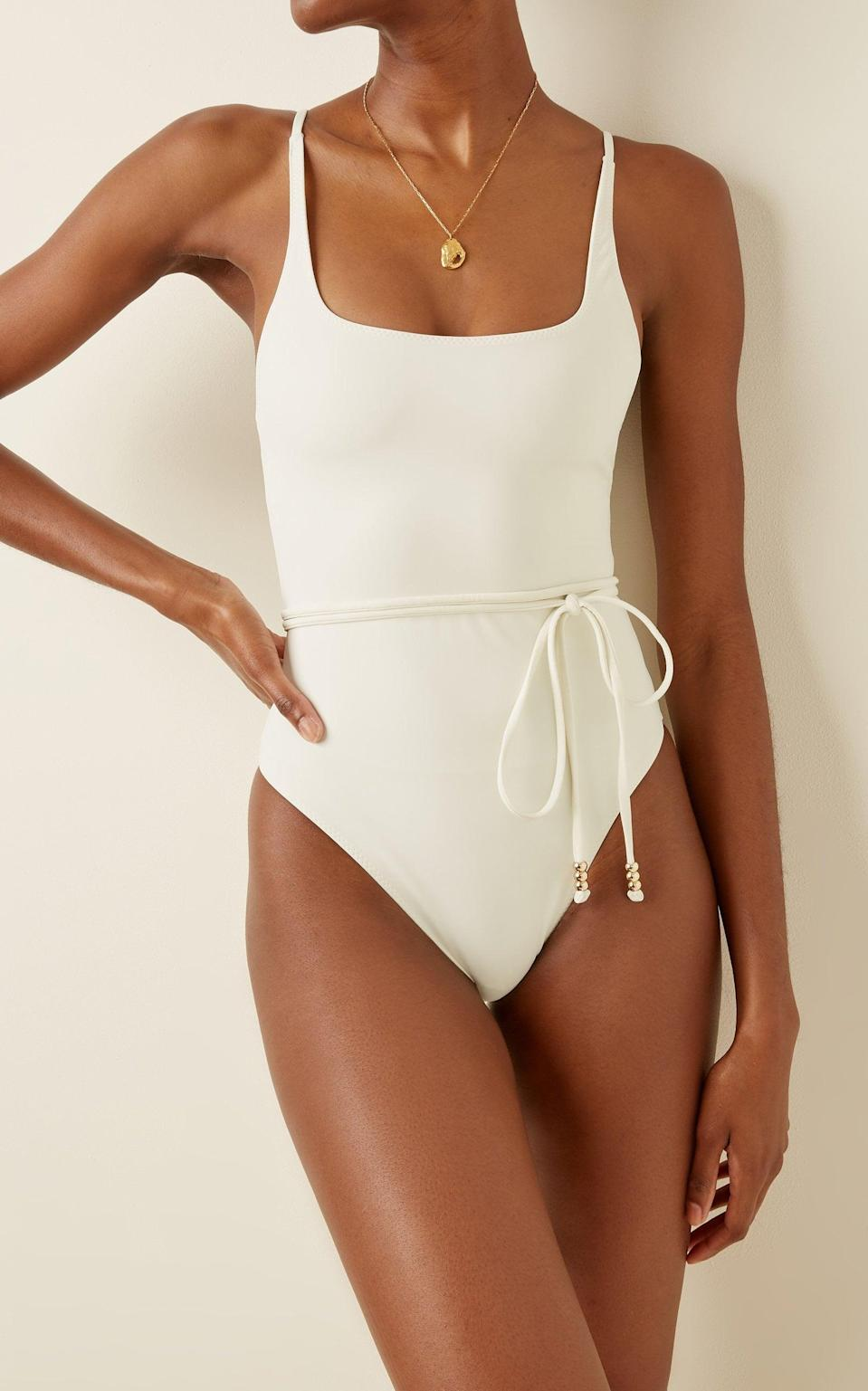 <p><span>Palm Giselle Belted One-Piece</span> ($174, originally $290)</p>