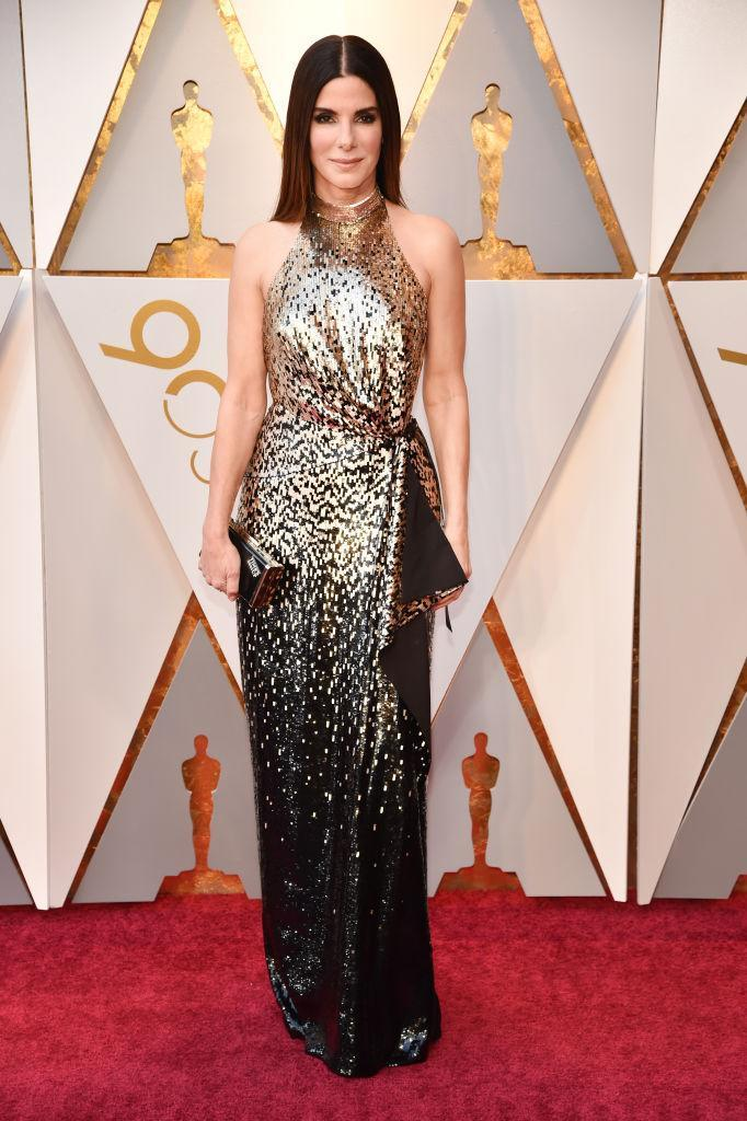 <p>Sandra Bullock attends the 90th Academy Awards in Hollywood, Calif., March 4, 2018. (Photo: Getty Images) </p>