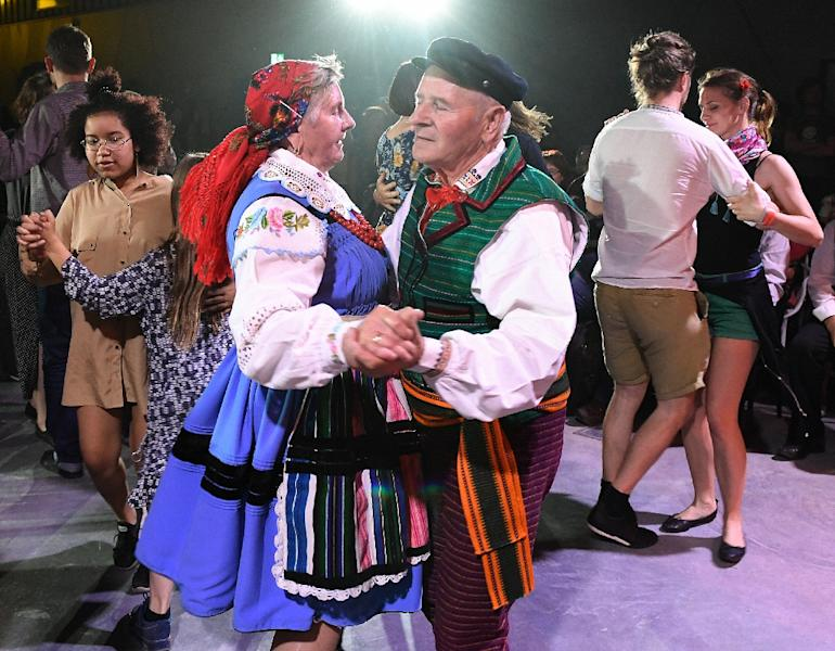 Taken across Europe and beyond by Polish soldiers and migrants some 200 years ago, the traditional mazurka evolved, before later almost vanishing (AFP Photo/Janek SKARZYNSKI)