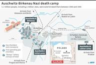Map of the Auschwitz-Birkenau Nazi death camp as it was in 1944 in Poland. Over a million Jews were exterminated in the camp by the Nazis between 1940 and 1945 (AFP Photo/Sophie RAMIS)