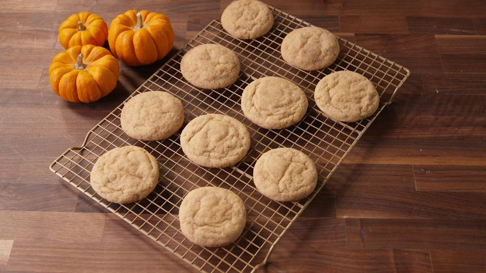 """<p>Connecticut's state cookie is the sugary <a href=""""https://www.delish.com/cooking/recipe-ideas/g4172/snickerdoodle-recipes/"""" rel=""""nofollow noopener"""" target=""""_blank"""" data-ylk=""""slk:snickerdoodle"""" class=""""link rapid-noclick-resp"""">snickerdoodle</a>, a sweet thought to have been introduced to America by immigrants from England, Scotland, and the Netherlands.</p><p>Get the recipe from <a href=""""https://www.delish.com/cooking/recipe-ideas/recipes/a49730/cheesecake-stuffed-pumpkin-snickerdoodles-recipe/"""" rel=""""nofollow noopener"""" target=""""_blank"""" data-ylk=""""slk:Delish"""" class=""""link rapid-noclick-resp"""">Delish</a>.</p>"""