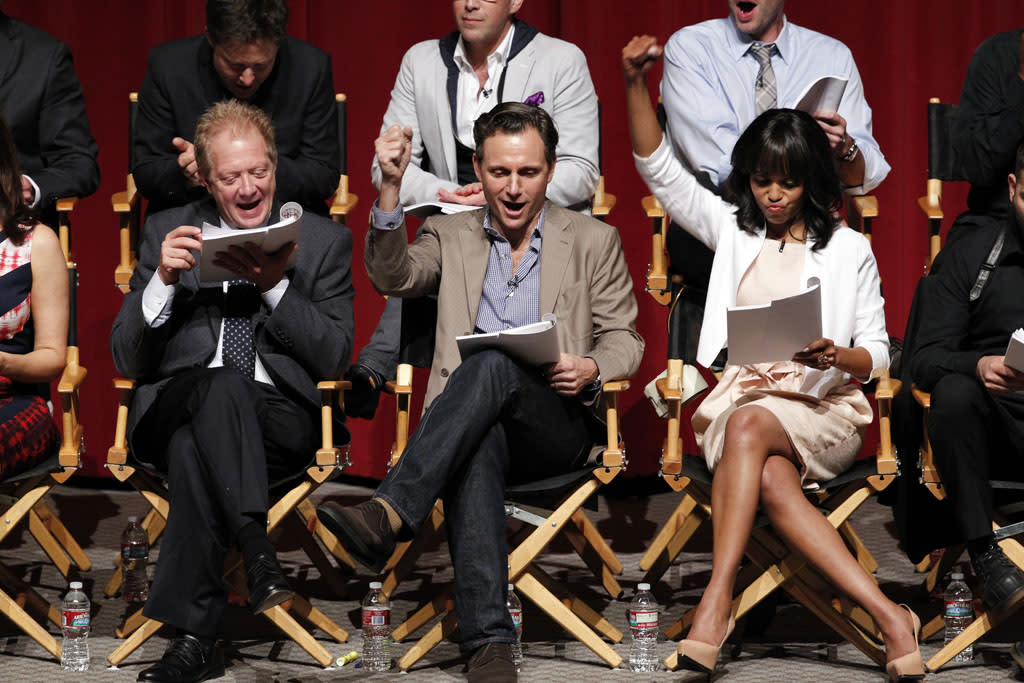 """The cast, guest stars and executive producers of """"Scandal"""" attended """"An Evening with Scandal"""" at The Academy of Television Arts & Sciences for their season finale table read and Q&A on Thursday, May 16, 2013."""