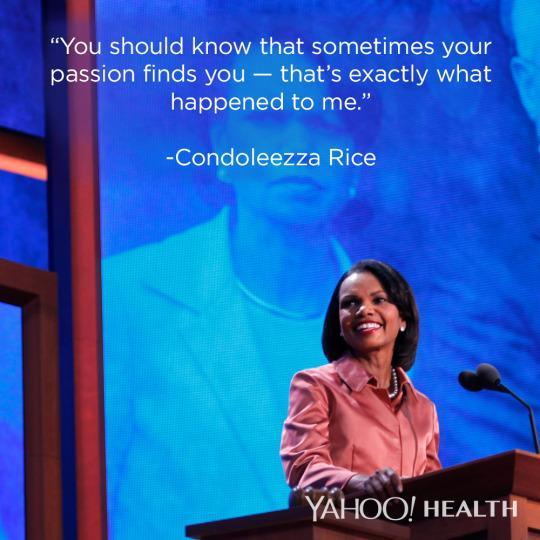 """<p>It's easy to imagine that a former Secretary of State knew exactly what she wanted to do with her life. But <a href=""""https://www.wm.edu/news/stories/2015/condoleezza-rices-commencement-remarks-video.php"""" rel=""""nofollow noopener"""" target=""""_blank"""" data-ylk=""""slk:Rice told students"""" class=""""link rapid-noclick-resp"""">Rice told students</a> otherwise, recounting that in college, she switched out of a music major and walked into a diplomacy class trying to figure out what she should do instead. Knowing what you want to do is great — but keeping an open mind means putting yourself out there to any and all opportunities, a trait that most employers find incredibly attractive, <a href=""""http://www.fastcocreate.com/3028458/an-employees-personality-is-more-important-than-skills-according-to-a-new-talent-study"""" rel=""""nofollow noopener"""" target=""""_blank"""" data-ylk=""""slk:research shows"""" class=""""link rapid-noclick-resp"""">research shows</a>. </p><p>(Photo: Corbis/Lara Solt)</p>"""