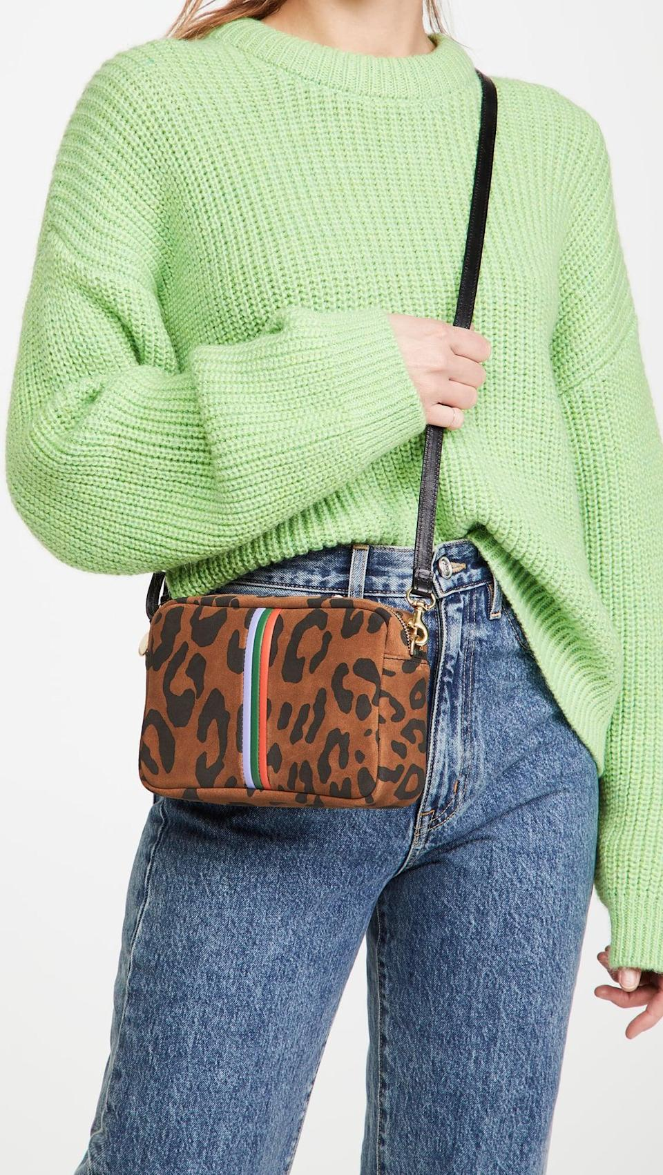 <p>If you love leopard print, then you need the <span>Clare V. Midi Sac Bag</span> ($345).</p>