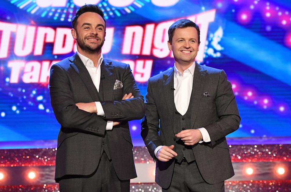 Ant and Dec during Saturday Night Takeaway. (Getty)