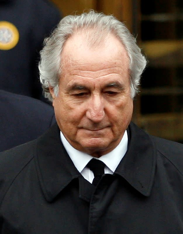FILE PHOTO: Bernard Madoff leaves the Manhattan federal courthouse in New York