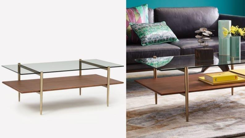Show off your coffee table books beneath the glass top.