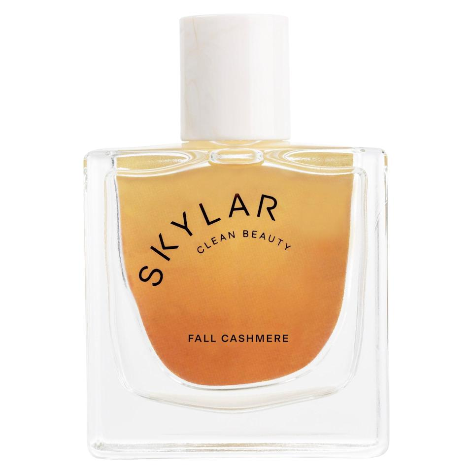 With a name like Fall Cashmere, we couldn't <em>not</em> include this new Skylar eau de parfum on our fall fragrance list. But it would've earned a spot under any name considering its notes of roasted almond, ginger, cinnamon bark, clove, matcha, sandalwood, caramelized vanilla, white musk, and amber make it a clear pick for that cozy, coffee-in-hand feel autumn makes you crave.