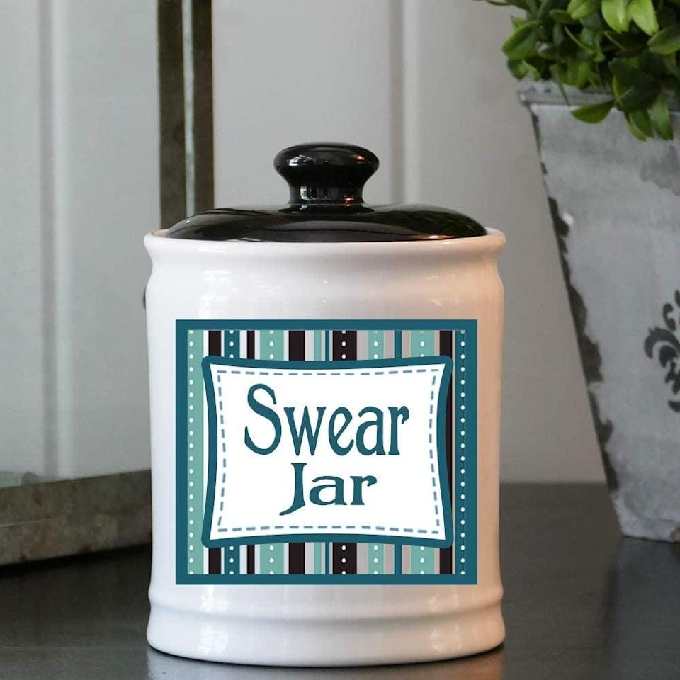 <p>The <span>Cottage Creek Swear Jar </span> ($23, originally $28) is a fun way to acknowledge their way of expressing themselves. It also doubles as stylish home decor.</p>