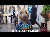 """<p><strong><strong>Watch in </strong><strong>cinemas now</strong></strong></p><p>Peter Rabbit is back for a second instalment of the family adventure franchise, starring Daisy Ridley, James Corden, Domhnall Gleeson, Elizabeth Debicki.</p><p>Despite his efforts, Peter can't seem to shake his reputation for mischief among the other rabbits. Once he adventures out of the garden Peter finds himself in a world where mischief is appreciated, but soon his family come to bring him home.<br></p><p><a href=""""https://youtu.be/euGHcnyUo84"""" rel=""""nofollow noopener"""" target=""""_blank"""" data-ylk=""""slk:See the original post on Youtube"""" class=""""link rapid-noclick-resp"""">See the original post on Youtube</a></p>"""