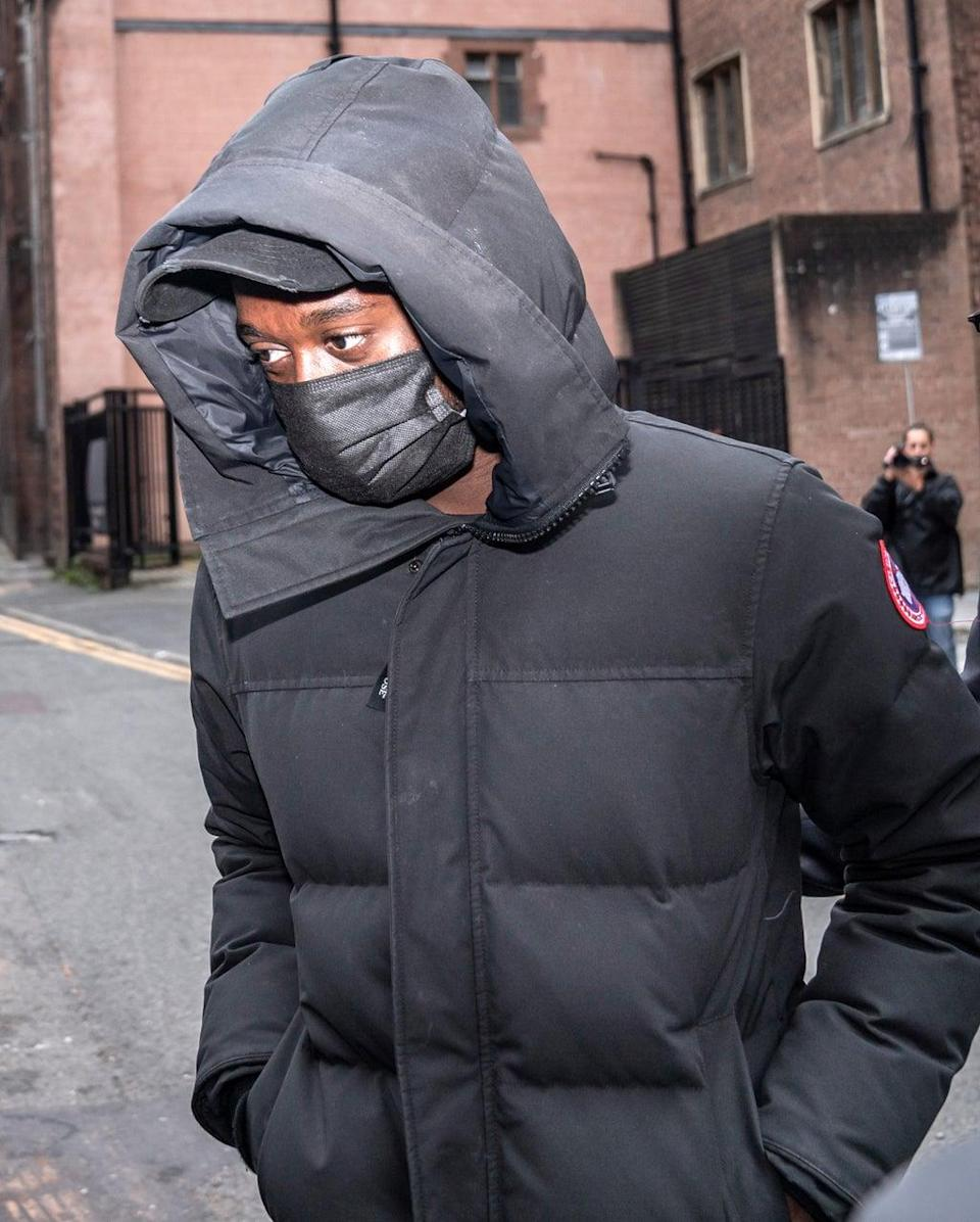 Manchester United defender Aaron Wan-Bissaka leaving Manchester Magistrates' Court (Danny Lawson/PA) (PA Wire)