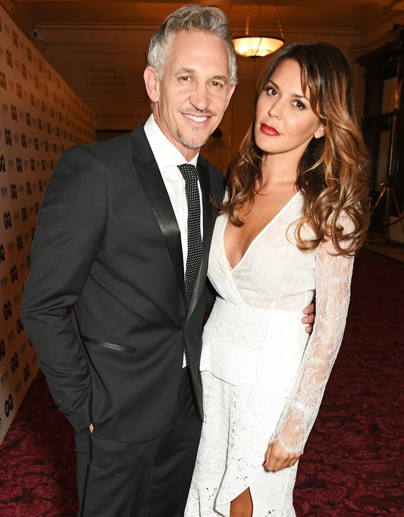 LONDON, ENGLAND - SEPTEMBER 08: Gary Lineker (L) and Danielle Lineker attend the GQ Men Of The Year Awards after party at The Royal Opera House on September 8, 2015 in London, England. (Photo by David M. Benett/Dave Benett/Getty Images)
