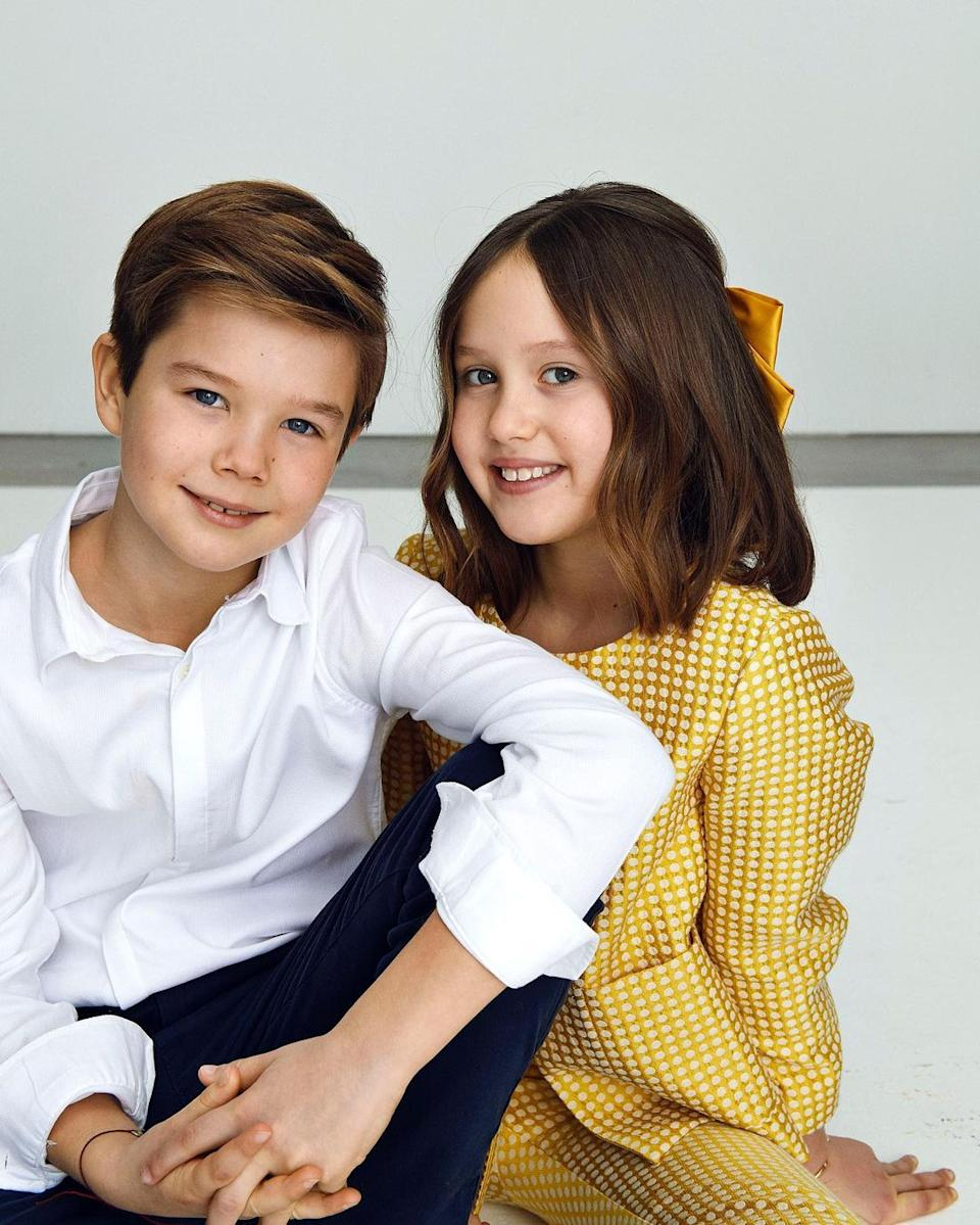 A photo of Denmark's Prince Vincent and Princess Josephine on their 10th birthday