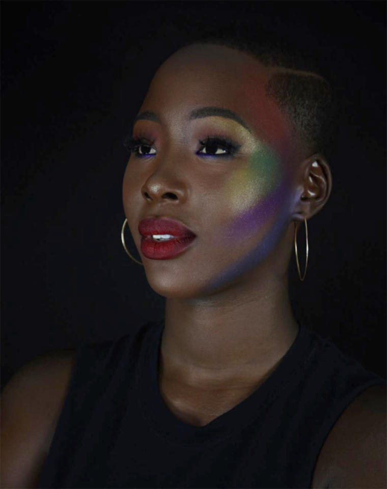"<p></p><p><span>Makeup artist Diamond Ritter rocks a <a rel=""nofollow"" href=""https://www.yahoo.com/beauty/milk-makeup-glitter-stick-gives-211542503.html"">colorful glow</a> to ""support the beautiful people of the LGBTQ community."" </span>(Photo: <a rel=""nofollow"" href=""https://www.instagram.com/p/BVmosHPhkUn/?taken-by=americas.next.top.baddie"">americas.next.top.baddie/Instagram</a>) </p><p></p>"