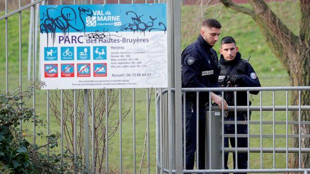 PHOTO: French police secure an area in Villejuif near Paris, France, Jan. 3, 2020, after police shot dead a man who stabbed several people in a public park. (Charles Platiau/Reuters)