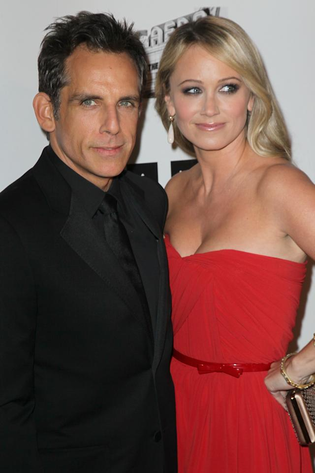 BEVERLY HILLS, CA - NOVEMBER 15:  Actor Ben Stiller and actress Christine Taylor attend the 26th American Cinematheque Award Gala honoring Ben Stiller at The Beverly Hilton Hotel on November 15, 2012 in Beverly Hills, California.  (Photo by David Livingston/Getty Images)