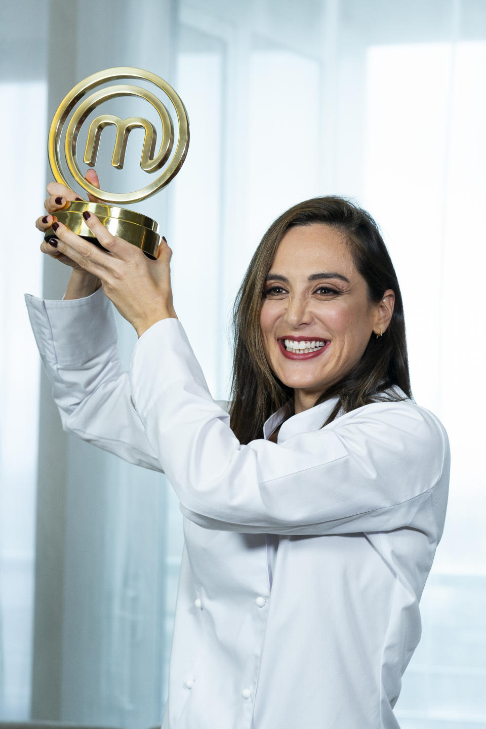 Tamara Falco, the winner of TV's MasterChef Celebrity 2019, poses for a photo session at Hotel Eurobuilding on November 28, 2019 in Madrid, Spain.  (Photo by Oscar Gonzalez/NurPhoto via Getty Images)
