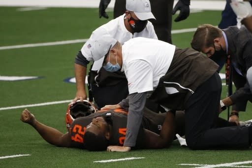 Browns star Chubb to miss 'several weeks' with knee injury
