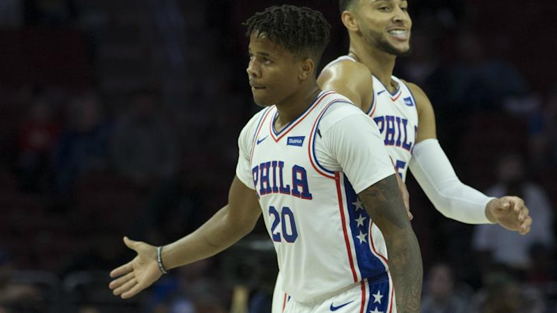 b78d95502a0 Fultz to start for 76ers as Brown eyes NBA Finals