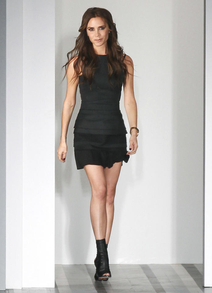 "Also spotted sashaying down the runway this week was Victoria Beckham,  who looked particularly ""posh"" as she unveiled her spring collection in  this self-designed LBD and to-die-for Manolo Blahnik booties. (9/9/2012)<br> <br> <a target=""_blank"" href=""http://omg.yahoo.com/news/victoria-beckham-show-full-her-style-signatures-161303899.html"">Beckham impresses at New York Fashion Week</a>"