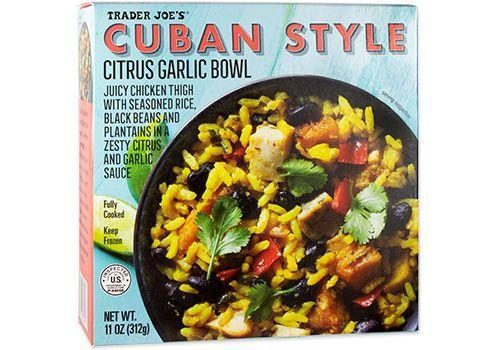 <p>If you think TJ's Chicken Burrito Bowl is good, just wait until you try this one. The plantains and citrus sauce make the meal feel bright and light.</p>