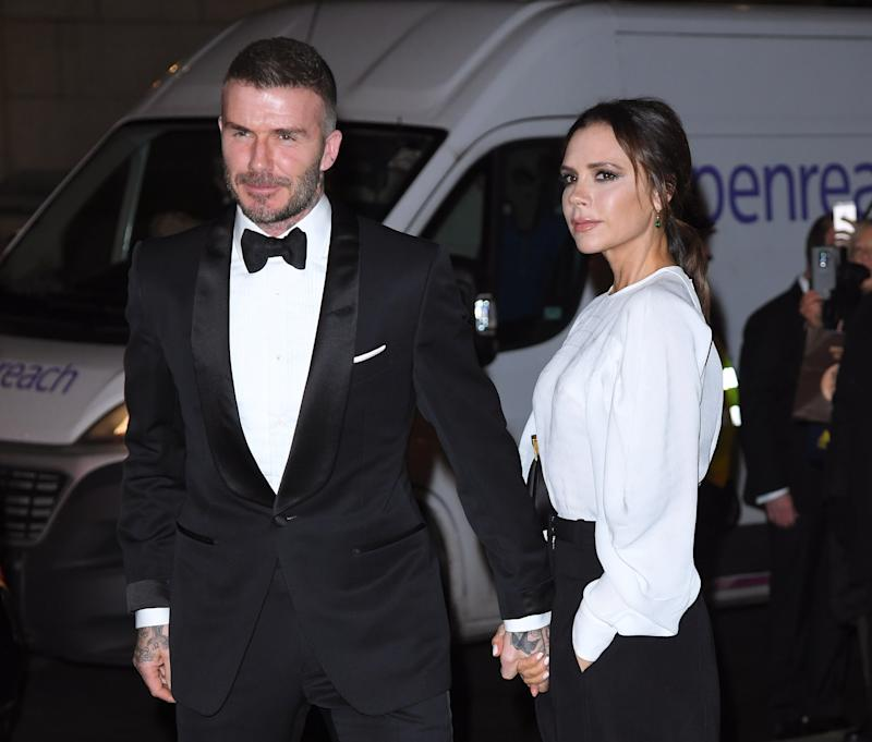LONDON, ENGLAND - MARCH 12: David Beckham and Victoria Beckham attend the Portrait Gala 2019 at National Portrait Gallery on March 12, 2019 in London, England. (Photo by Karwai Tang/WireImage)