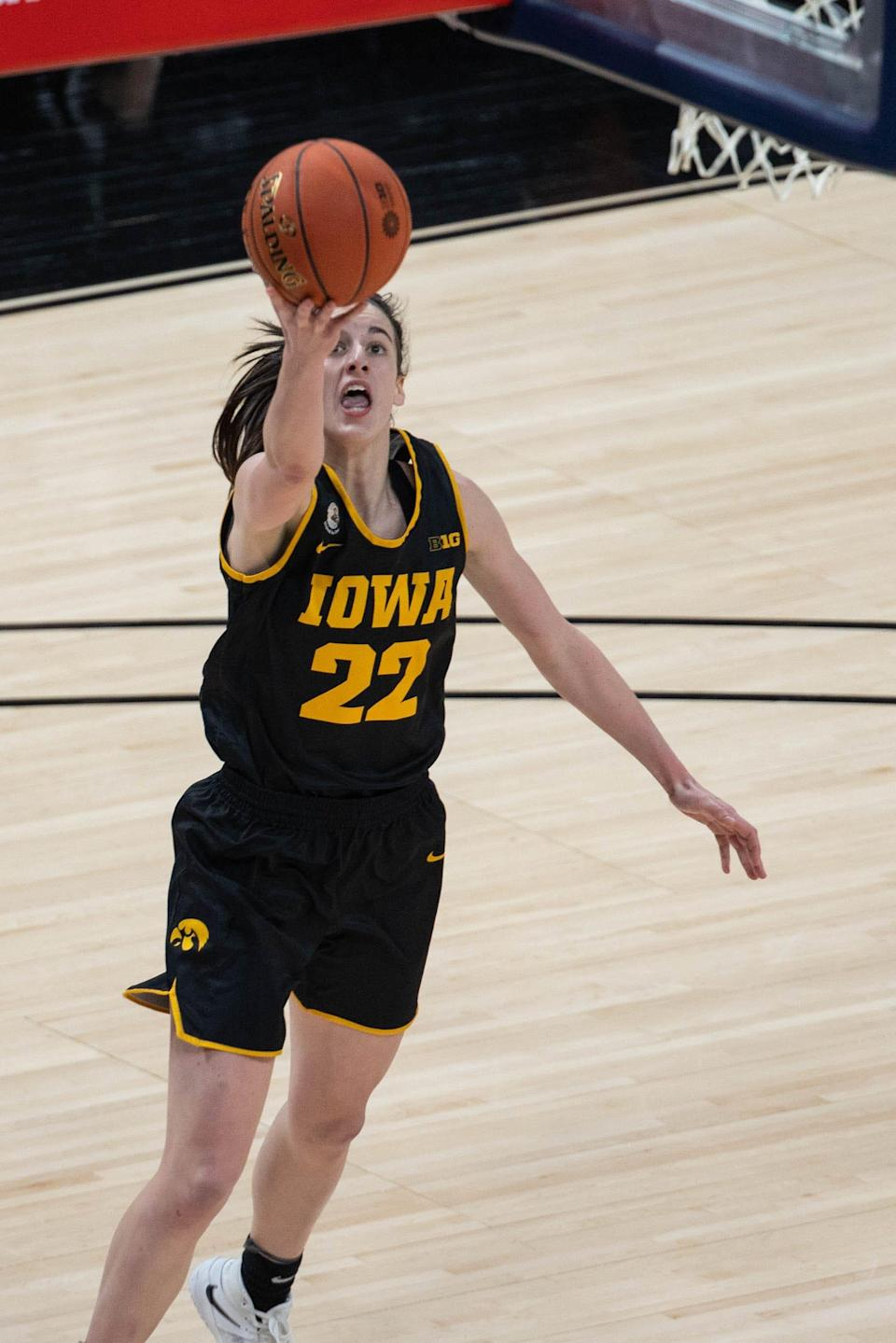 Iowa guard Caitlin Clark averages 26.7 points, 5.9 rebounds and 7.1 assists through 27 games this season.