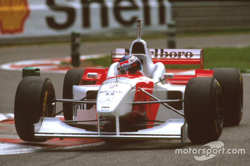 "1996: McLaren-Mercedes MP4/11B<span class=""copyright"">LAT Images</span>"