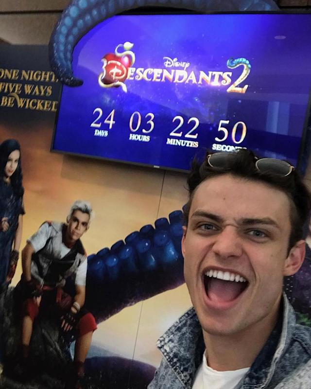 <p>24 DAYS!!! #descendants2 — @thomasadoherty <br><br>(Photo: Thomas Doherty via Instagram) </p>